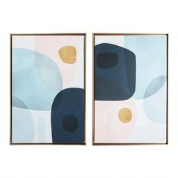 Gold Monde I-II By Victoria Borges Framed Wall Art 2 Piece   World Market