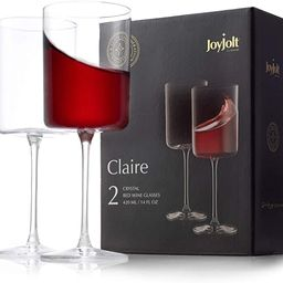JoyJolt Red Wine Glasses – Claire Collection Set of 2 Large Wine Glasses – 14-Ounce Crystal W... | Amazon (US)
