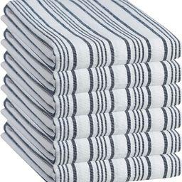 GLAMBURG Classic Stripe 100% Cotton Kitchen Towel & Dish-Towels 6-Pack 18x28 Quick Dry Commercial... | Amazon (US)