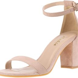 Ankis Nude Silver Heels for Women Open Toe Ankle Strap Chunky Heel Pump Sandals Evening Dress Par...   Amazon (US)
