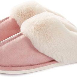 Womens Slipper Memory Foam Fluffy Soft Warm Slip On House Slippers,Anti-Skid Cozy Plush for Indoo... | Amazon (US)