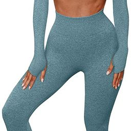 OYS Womens Yoga 2 Pieces Workout Outfits Seamless High Waist Leggings Sports Crop Top Running Clo...   Amazon (US)