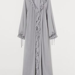 Long Ruffle-trimmed Dress   H&M (US)