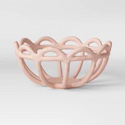 "4.7"" x 10"" Ceramic Bowl Pink - Opalhouse™   Target"