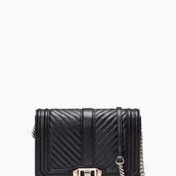 Black & Light Gold Love Crossbody Bag | Rebecca Minkoff | Rebecca Minkoff US