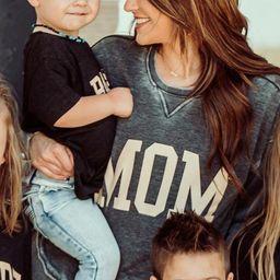amber massey: mom high low sweatshirt - charcoal   RIFFRAFF