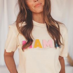 friday + saturday: mama color block t shirt   RIFFRAFF