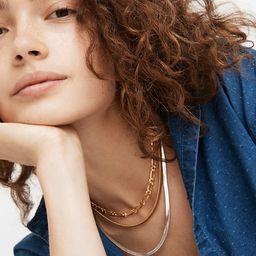 Herringbone Chain Necklace | Madewell