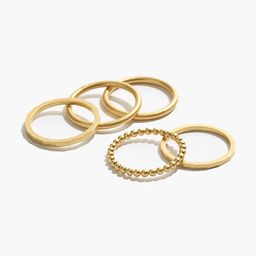 Simple Stacking Ring Set | Madewell