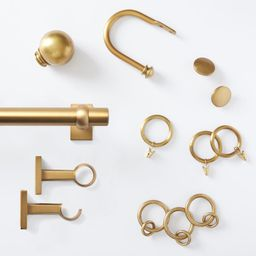 Brass Curtain Hardware Collection   Pottery Barn (US)