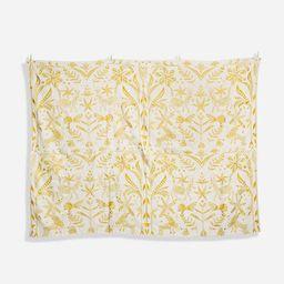 Embroidered Tablecloth Veracruz Yellow   Frances Valentine