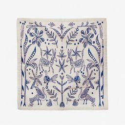 Embroidered Napkin Set Veracruz Blue   Frances Valentine