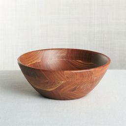 Carson Medium Acacia Serving Bowl + Reviews   Crate and Barrel   Crate & Barrel