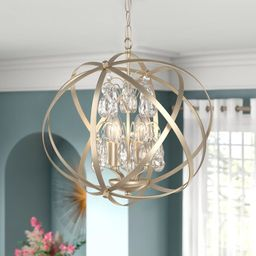 Philbrick 4 - Light Unique Globe Chandelier | Wayfair North America