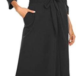 MAXMODA Women Kimono Robes Soft Long Robe Knit Bathrobe Sleepwear V-Neck Ladies Loungewear S-3XL | Amazon (US)