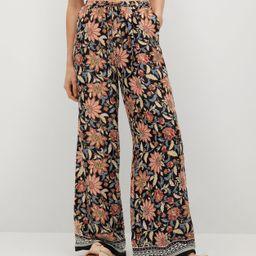 Flower print pants   MANGO (US)
