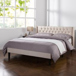 Rothbury Tufted Upholstered Low Profile Platform Bed   Wayfair North America