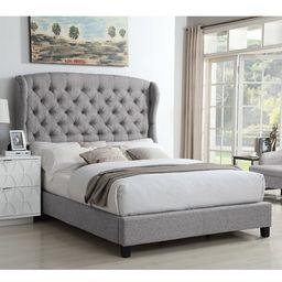 Feliciti Tufted Upholstered Low Profile Standard Bed   Wayfair North America