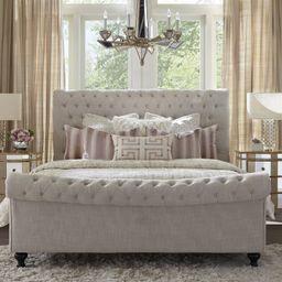 JACKIE - CREPE Tufted Upholstered Sleigh Bed   Wayfair North America