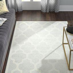 Adeleine Geometric Light Grey/Beige Area Rug | Wayfair North America