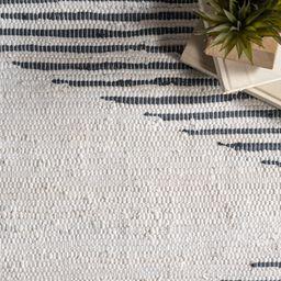 Batson Geometric Handmade Flatweave Cotton Ivory/Gray Area Rug | Wayfair North America