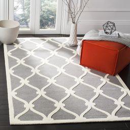 Wyoming Geometric Wool/Cotton Gray Area Rug | Wayfair North America
