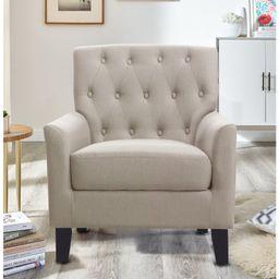 "Popel 33"" Wide Tufted Linen Armchair | Wayfair North America"