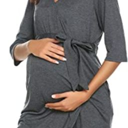 Ekouaer Maternity Robe 3 in 1 Labor Delivery Nursing Gown Hospital Breastfeeding Dress Bathrobes | Amazon (US)