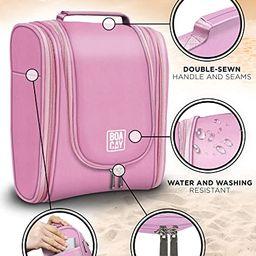 Premium Hanging Travel Toiletry Bag for Women and Men, Hygiene Bag, Bathroom and Shower Organizer... | Amazon (US)
