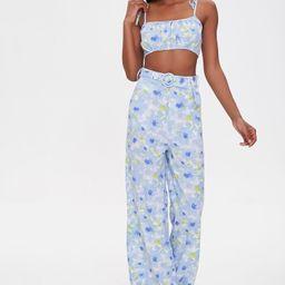 Floral Cropped Cami & Pants Set   Forever 21 (US)