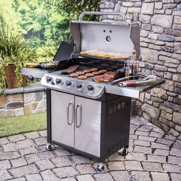 Char-Broil Performance Series 5-Burner Propane Gas Grill with Side Burner and Cabinet   Wayfair North America