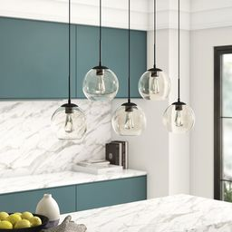 Snead 5 - Light Cluster Globe Pendant with Glass Accents | Wayfair North America