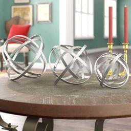 3 Piece Tennille Fold Orb Sculpture Set   Wayfair North America