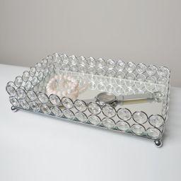 Avah Crystal Mirrored Jewelry or Makeup Vanity Tray   Wayfair North America