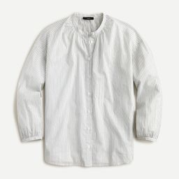 Cotton-voile button-front top in double stripe | J.Crew US