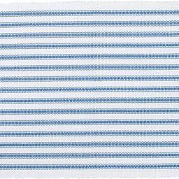 C&F Home Ticking Stripe Cornflower Cotton Reversible Machine Washable Placemat Set of 6 Rectangul... | Amazon (US)