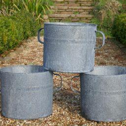 Large Zinc garden Planter - Vintage Planter - Garden Planter - Metal Planter - Metal Garden Plant... | Etsy (US)