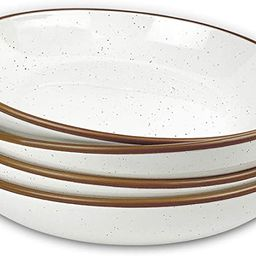 Mora Ceramic Large Pasta Bowls 30oz, Set of 4 - Serving, Salad, Dinner, etc Plate/Wide Bowl - Mic...   Amazon (US)