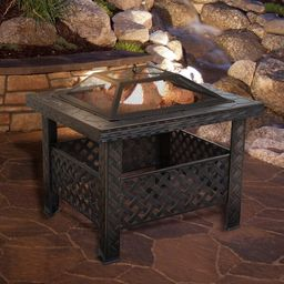 Jaimes Steel Wood Burning Fire Pit Table | Wayfair North America
