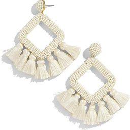 Beaded Tassel Earrings Statement Handmade Bohemian Beaded Dangle Earrings for Women Wedding Brida...   Amazon (US)