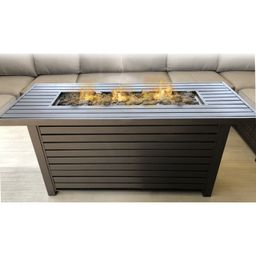 Lebeau Steel Propane/Natural Gas Fire Pit Table | Wayfair North America