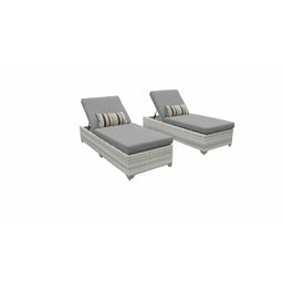 Falmouth Reclining Sun Lounger Set with Cushions (Set of 2) | Wayfair North America