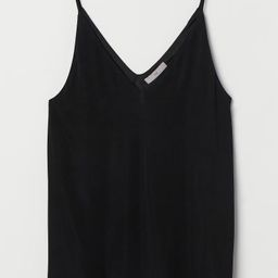 Camisole top in viscose jersey with a V-neck at front and back and narrow shoulder straps. Jersey...   H&M (US)