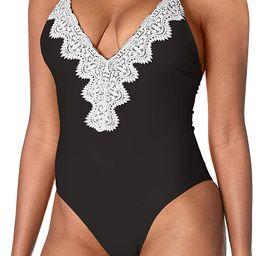 Ocean Blues Women's Lace One Piece Swimsuits for Women Vintage Bikini Beach Swimwear One Piece Ba...   Amazon (US)