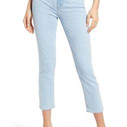 PAIGE Sarah Crop Slim Straight Leg Jeans (Sunbleached Distressed)   Nordstrom   Nordstrom