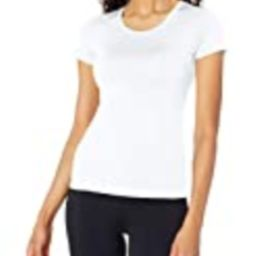Amazon Brand - Core 10 Women's Fitted Run Tech Mesh Short Sleeve T-Shirt, White, Small   Amazon (US)