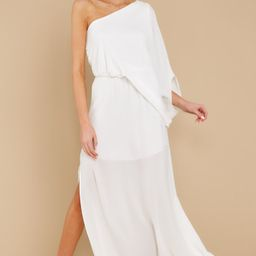 Get Obsessed White Maxi Dress   Red Dress