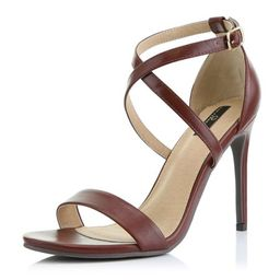 DailyShoes High Heel Sandal for Women Heeled Sandals Stiletto Criss Cross Strappy Open Toe Crossed E   Walmart (US)