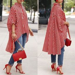 Plus Size Stylish Autumn Winter Long Sleeve Casual Loose Blouse Tops Shirt For Women Ladies Button L   Walmart (US)