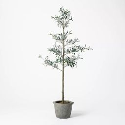 """75"""" Artificial Sparse Olive Tree in Pot - Threshold™ designed with Studio McGee 
